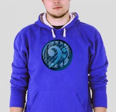 Bass clef B1 Hoodie double color