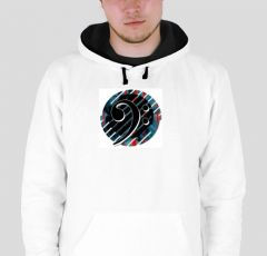 Bass clef  B5 Hoodie double color