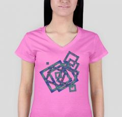 T-shirt Ladies Havy V neck mYŚL M1