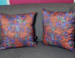 Two decorative pillows sEN kOSIARZA 7, 38x38 cm. Fastened with a zipper